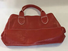 Maurizio Taiuti Red Leather Tote Bag Purse