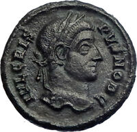 CRISPUS Constantine I the Great son 321AD  Ancient Roiman Coin WREATH  i74231
