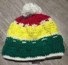 BONNET CAPCHO POMPON FAIT MAIN AU NEPAL @ SKI SNOWBOARD URBAIN NEUF Reggae 25€ !