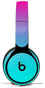 Skin for Beats Solo Pro Smooth Fades Neon Teal Hot Pink BEATS NOT INCLUDED