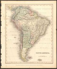1840 ca ANTIQUE MAP - SOUTH AMERICA
