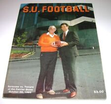 1985 Syracuse Orangemen vs Temple Owls NCAA Football Program VG-EX 32+ years old