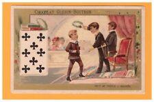 IMAGE Chromo CHOCOLAT GUERIN BOUTRON / JEU de CARTES 8 Trefle / ENFANT LAUREAT