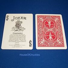 One Way Force Card Deck, Black White Guarantee Joker, Red Bicycle, Magic Trick