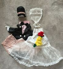 New listing Lawn goose clothes outfit – Bride & Groom pair - 24�-27� preowned