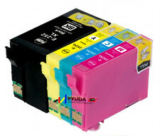 4 Epson Generic 252 252XL 254XL BK Ink Cartridge Workforce WF3620 WF3640 Printer