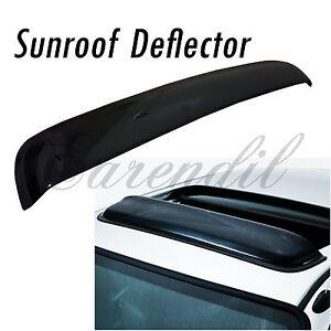 38 Inch 980mm SunRoof Moon Deflector Visor Smoke Black #Pt12 JDM Rain Wind Guard