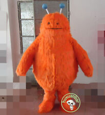 Halloween Furry Orange Bear Mascot Costume Suits Adults Cosply Party Game Dress