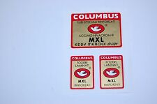Columbus MXL EDDY MERCKX frame +2 fork decals , stickers