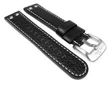 Ersatzband Leder schwarz TW STEEL TW7 TW22 TW1 TW5 TW6 TW21N TW23 TW3 TW11 26160