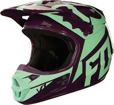 Fox V1 Race Motocross MX OffRoad Helmet Green Purple Adults XLarge 61-62cm