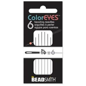 ColorEyes Beading Needles---Available in Sizes 10, 11 or 12---6 or 25 Per Pack