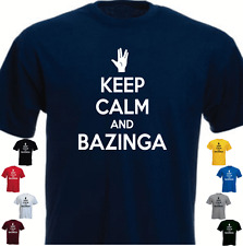 KEEP CALM AND BAZINGA The Big Bang Theory Present T-shirt  Gift Birthday
