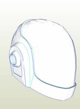 Daft Punk (Tron) Helmet Pepakura card Cosplay or prop