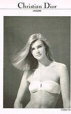 PUBLICITE ADVERTISING   1982   CHRISTIAN DIOR  lingerie sous vetements
