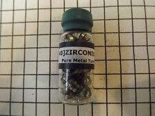 ZIRCONIUM Pure Metal Turnings  in sealed vial
