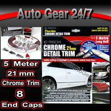 21mm chrome voiture van body garniture porte pare-chocs protection style bande avec embouts