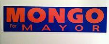 Mongo for Mayor Bumper sticker decal hot rod rat vintage look nostalgia memphis