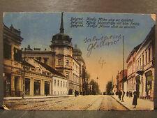 cpa serbie belgrad belgrade kiraly milan utca az epulettel