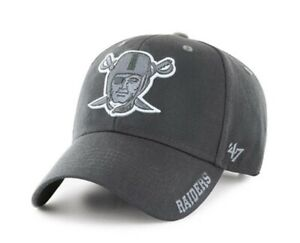 Las Vegas Raiders '47 Brand MVP Mens Adjustable Hat charcoal grey gray new nwt