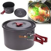 3L Oxidation Aluminum Single Pot Nonstick Hiking Fishing Picnic Camping Cookware