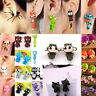 Women Ladies 3D Cartoon Animal Fox Cat Polymer Clay Earrings Jewelry Ear Studs