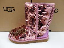 cb952b0c6df4 UGG Australia Sparkles BOOTS Womens Classic Short Sequin Pink Size 7