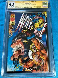 Wolverine #90 Deluxe - Marvel - CGC SS 9.6 NM+ - Signed by Kubert, Hildebrandt
