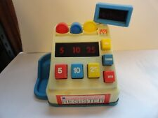 FUN YEARS CHILDREN'S TOY CASH REGISTER ~ WORKS WELL ~ COINS INCLUDED ~ GOOD COND