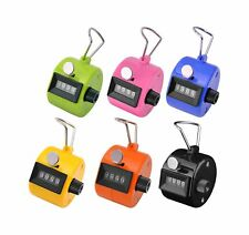 Ktrio Pack of 6 Color Hand Tally Counter 4 Digit Tally Counter Mechanical Pal...