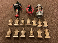 13 x STAR WARS - Episode 1 Phantom Menace Bust Heads Kellogs Cereal, Plus Others