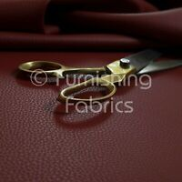 Recycled Eco Genuine Leather Hides Off-Cuts High Premium Upholstery Fabric Red