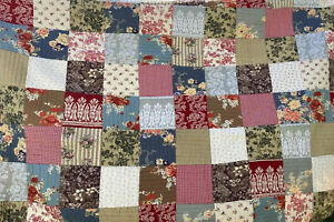 POTTERY BARN KING SIZE Patchwork QUILT Reversible With 2 Pillow Shams Beautiful