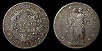 pcc672) Repubblica Subalpina (1800-1802) 5 Franchi AN 10 Mont 10