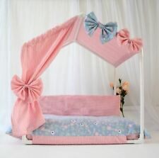 New Handmade Princess Pet Dog Cat House Tent Sofa Bed Cushion Frame Bed Size M