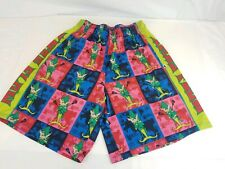 Flow Society Lacrosse Shorts Men's Xmas Flow Elf Size Small Multicolored. L35