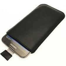 Nero Custodia Pouch Pelle per Samsung Galaxy Note 2 II N7100 Case Cover Borsa