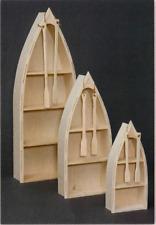 """NEW AMISH Custom Made Pine UNFINISHED 48"""" Canoe   Boat   Shelf   We'll Finish!"""