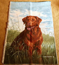 Chocolate Lab by James Hautman Crafters Tapestry Wall Hanging Fabric Piece