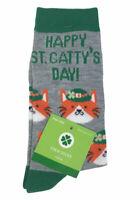 St. Patricks Day Crew Women's Socks Size 4-10 Cats Catty's Day