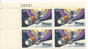 U.S. Plate Block Skylab - 10 cent Stamps