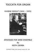 Gigout Organ Toccata arr for Wind Ensemble Advanced arr. K. Ziemba  NEW