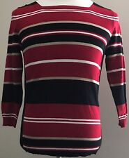 JOSEPH A. Womens Rayon Nylon Pull Over Sweater Scarlet Combo Size M(UBWJAS)$58