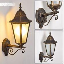 Garten Hof Veranda Terrassen Beleuchtung braun-gold Außen Wand Lampen klassisch