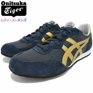 Onitsuka Tiger SERRANO NAVY / GOLD TH109L Unisex Sports shoes NEW DHL JP asics