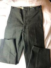 Vintage Woolrich Mens Heavy Wool Pleated Pants Green Sz 30x27 Suspenders Missing