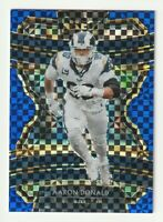 2019 Panini Select Blue Prizm Concourse Aaron Donald Los Angeles Rams /175 #44