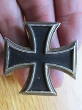 German Army iron cross 1st Class Type 1956 Pin Back Deschler & Sohn Silver