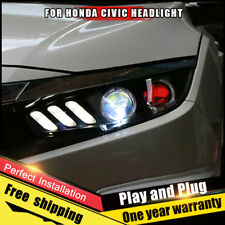 2016-2018 For Honda CIVIC Headlights assembly Bi-Xenon Lens Double Beam HID KIT