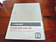 HOMEMAKER DOUBLE QUILT COVER SET NEW